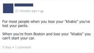 funny facebook quotes, say car keys like an australian person