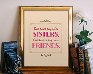 Sisters Quote Printable, Print Art Poster wall decor, typography ...