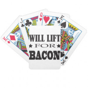 Will Lift For Bacon - Funny Crossfit Saying Bicycle Card Deck