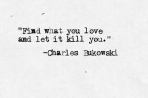 bukowski quote tattoo