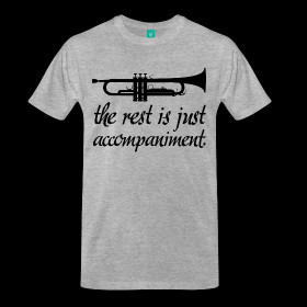 Trumpet Music Band T-shirt (funny trumpet) ~ 1850