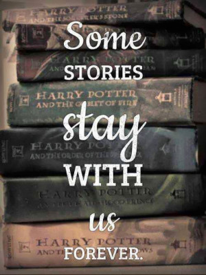 The Harry Potter books made me fall in love with reading, so THANK YOU ...