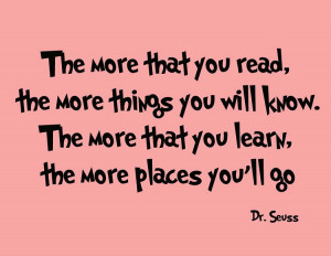 Dr. Seuss Wall Decals - The More That You Read | Dr. Seuss Wall Art