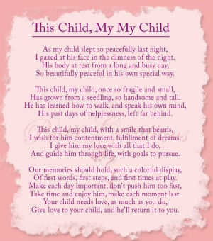 This Child, My Child Poem