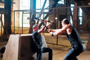 "... axes in ""Bullet to the Head."" courtesy Dark Castle Entertainment"