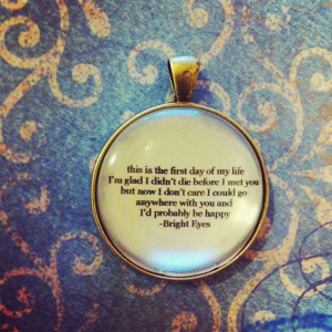 Bright Eyes quote necklace