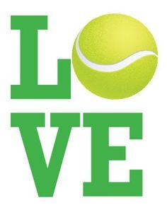 Tennis LOVE - Cute Print. More