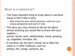 powerpoint presentation writing narrative essay