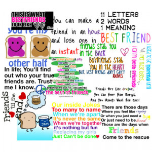 BFF Quotes - Polyvore