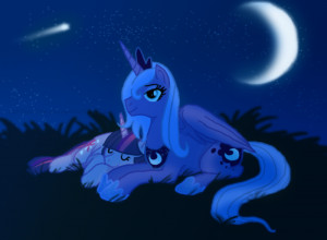 ... romantic shooting_star sleeping stars twilight_sparkle unicorn wings