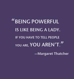 Wise words: Margaret Thatcher on leadership