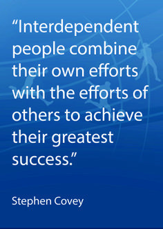 ... teamwork quote from Stephen Covey #CoachingQuotes #Teamwork More