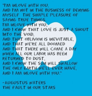 Quote 4 ( I love you) - the-fault-in-our-stars Photo
