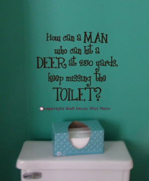 ... The Toilet Funny Quote Wall Decal, 14-Inch X 12-Inch, Chocolate Brown