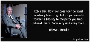 Robin Day: How low does your personal popularity have to go before you ...