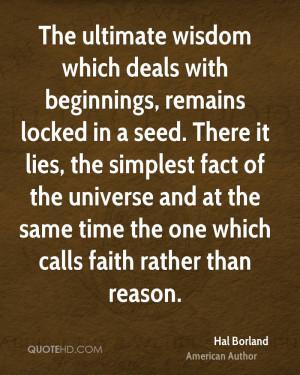 Hal Borland Wisdom Quotes