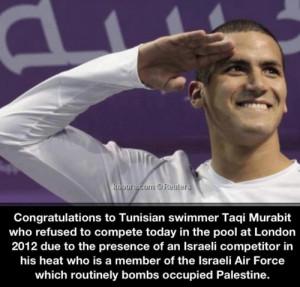 ... palestine olympics tunisia london 2012 summer olympics anti zionist