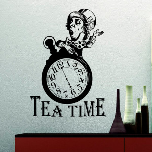 Mad Hatter Tea Party Alice In Wonderland Wall Decal Quote Tea Time ...