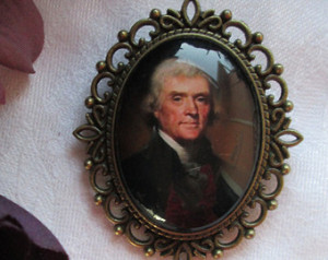 Thomas Jefferson Cameo Brooch, Revolutionary, Founding Father, Liberty ...