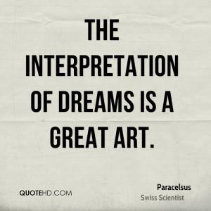 Paracelsus Dreams Quotes