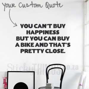 Custom Wall Decal Quote – Large