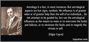 Astrology is a fact, in most instances. But astrological aspects are ...