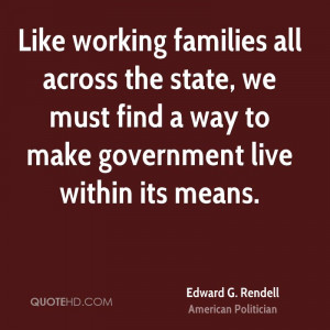 Like working families all across the state, we must find a way to make ...