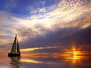 Sunset and sailing © Eric Gevaert