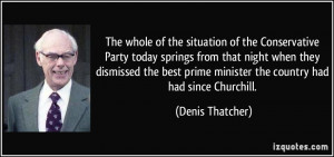 The whole of the situation of the Conservative Party today springs ...