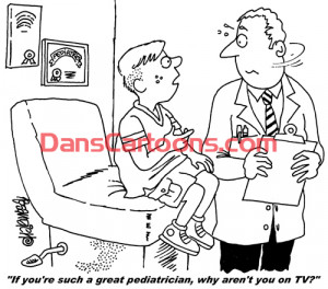 Pediatrician Cartoon 100 a Cartoon Image and funny joke for license by ...