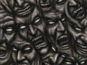 EVIL DEMON FACES SMILING Image