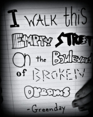 descriptions for this image green day the boulevard of broken