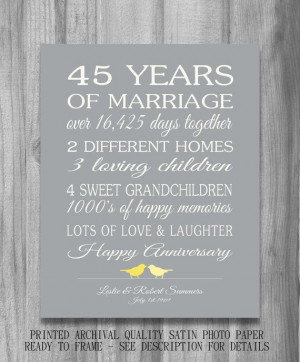 45th Wedding Anniversary Gift Ideas For Husband : Anniversary, 45Th Wedding Anniversary Gifts, 45 Anniversary Gift, 45Th ...