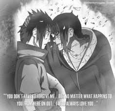 Sasuke & Itachi. #naruto More
