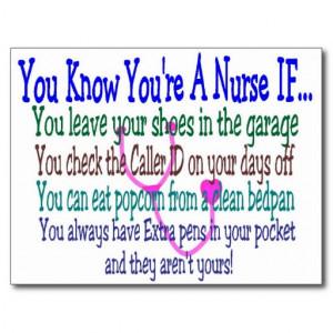 Funny Nurse Sayings Postcard