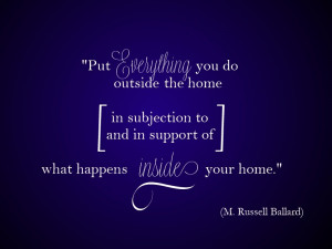 ... home in subjection to and in support of what happens inside your home