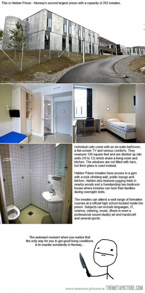 Funny photos funny prison cells Norway cool