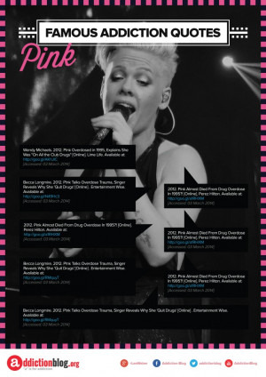 Pink quotes about drugs and alcohol (INFOGRAPHIC)