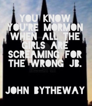 Mormon speaker. P.S. John bytheway did not say this - made by Grace ...