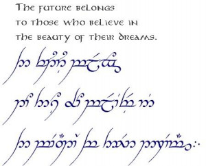 phrases in elvish from lord of the rings | The Hobbit, The Lord of the ...