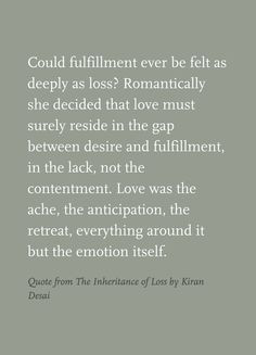 quote from the inheritance of loss by kiran desai more awesome quotes ...