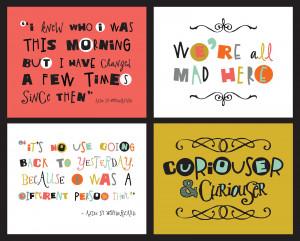 Freebie Friday: Alice in Wonderland Quotes