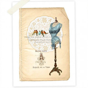 Mannequin, Art Print, Giclee, Corset, Dress form, Inspirational Quote ...