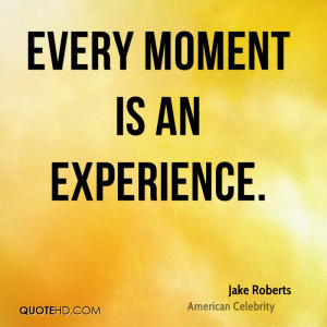 Jake Roberts Experience Quotes