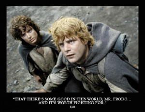 ... Some Good In This World, Mr Frodo And It's Worth Fighting For