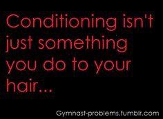 It's a gymnast thing More