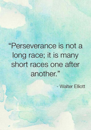 ... long race; it is many short races one after another. ~Walter Elliott