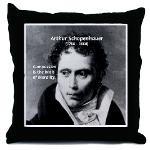Arthur Schopenhauer Truth Throw Pillow