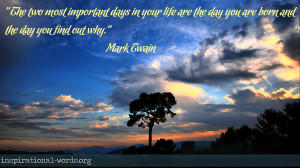 Inspirational Wallpaper Quote by Mark Twain