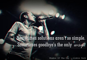 Sometimes solutions aren't so simple. Sometimes goodbye's the only way ...